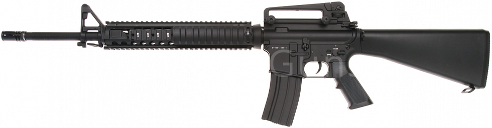 Power Custom M16A4 RIS, 160 m/s, AirsoftGuns, BY-055, BI-5581M