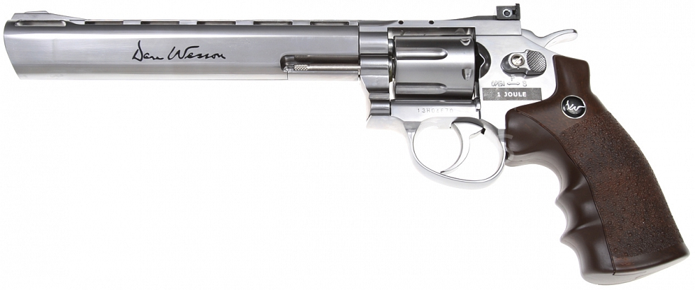 Dan Wesson 8 Inch, Stainless, Hi-Power, GNB, ASG