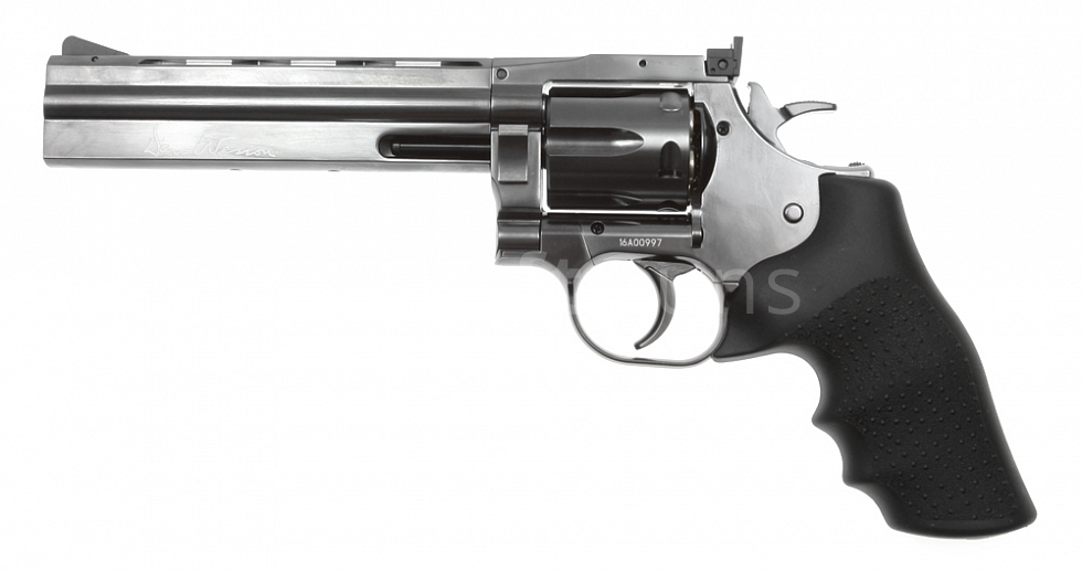 Dan Wesson 715, 6 Inch, Steel grey, Hi-Power, GNB, ASG