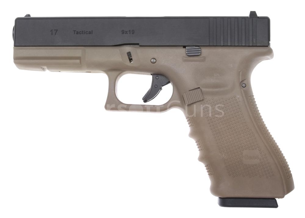 Glock 17, rám gen. 4, Tan, GBB, WE | AirsoftGuns