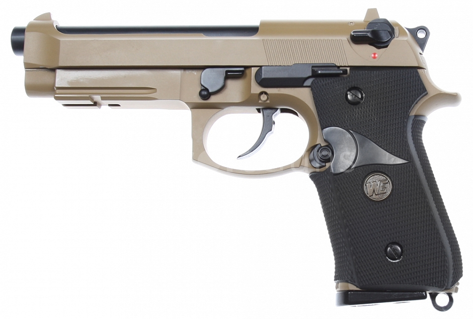 Beretta M9A1, Navy version, Tan, GBB, WE