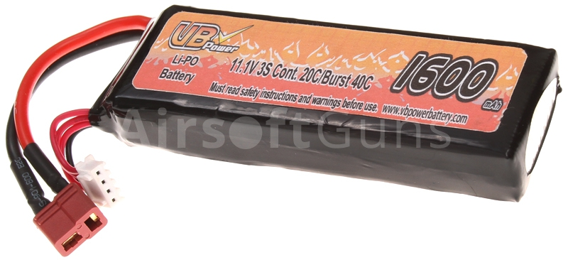 Akumulátor VB Li-Pol 11,1V, 1600 mAh, medium block, 20C, VB Power